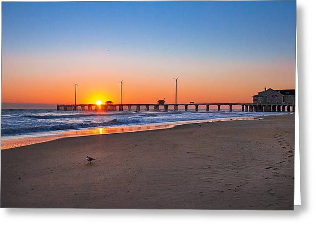 Jennettes Pier Greeting Card by Mary Almond