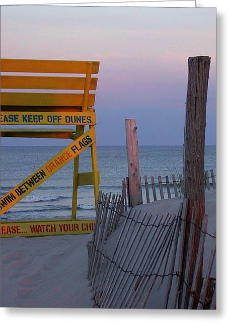 Greeting Card featuring the photograph Jersey Shore by David Armstrong