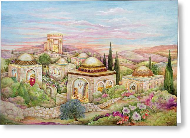 Jerusalem Landscape Greeting Card by Michoel Muchnik