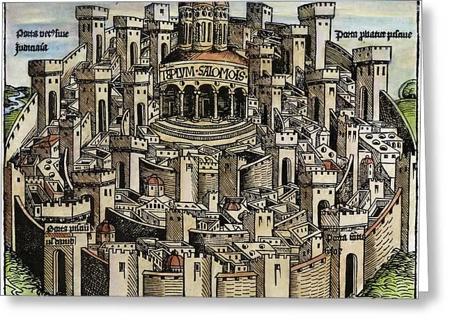 Jerusalem Temple, 1493 Greeting Card