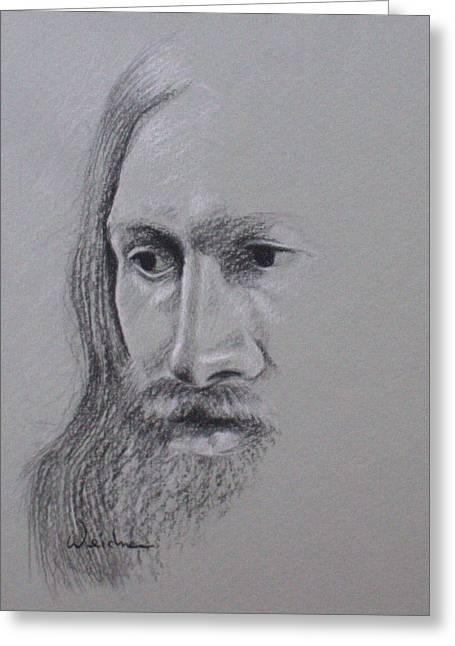Jesus Greeting Card by Kathy Weidner