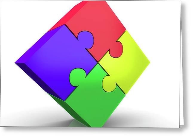 Jigsaw Puzzle Greeting Card by Wladimir Bulgar