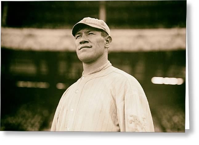 Jim Thorpe - New York Giants 1912 Greeting Card by Mountain Dreams