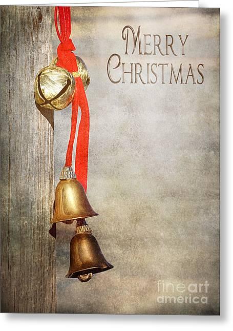 Jingle Bells Greeting Card by Cindy Singleton