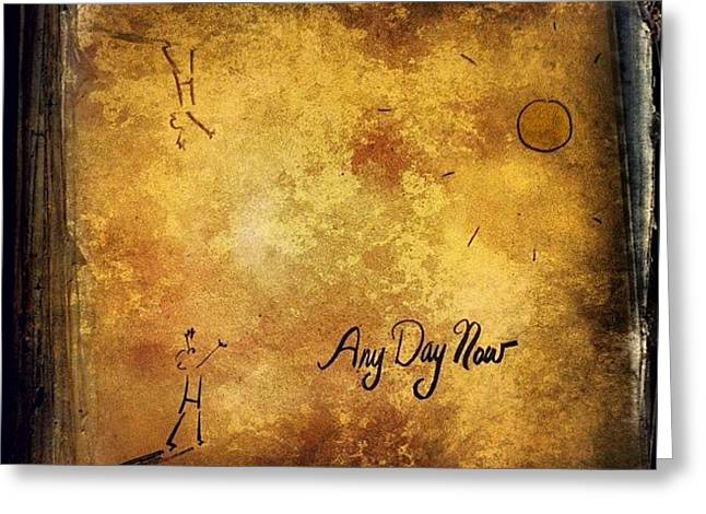 Joan Baez any Day Now Lp Greeting Card