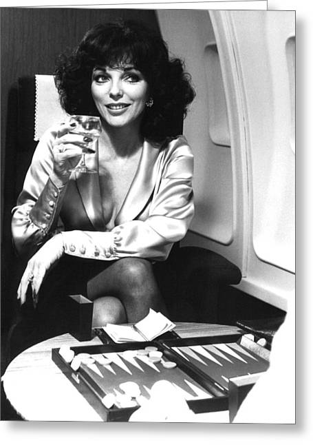 Joan Collins In The Bitch  Greeting Card