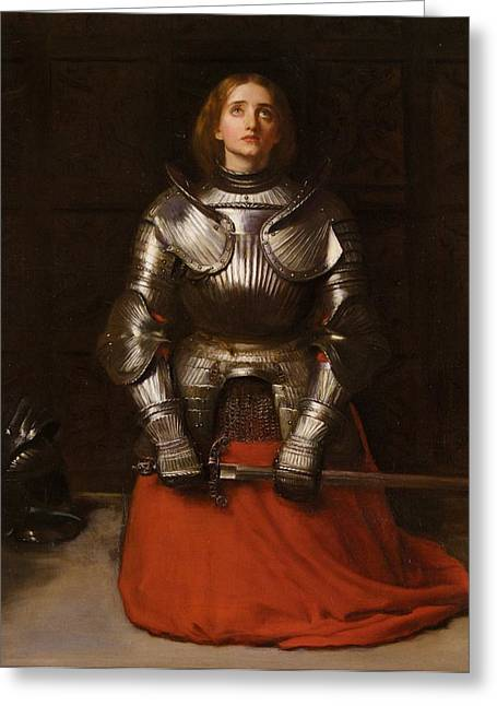 Joan Of Arc  Greeting Card by John Everett Millais