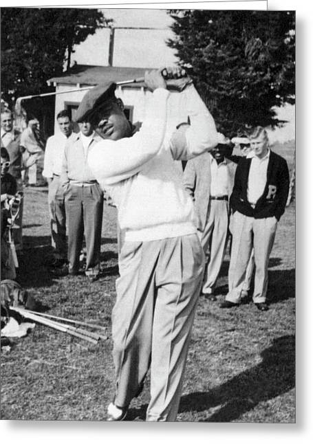 Joe Louis Golfing Greeting Card by Underwood Archives