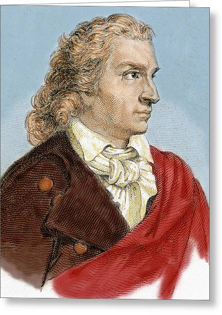 Johann Christoph Friedrich Von Schiller Greeting Card by Prisma Archivo