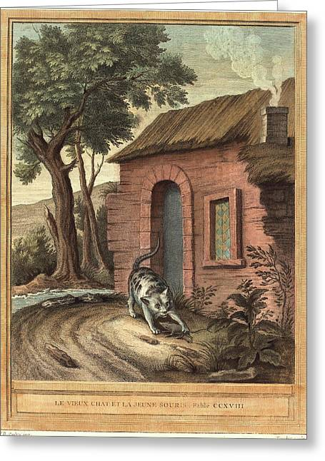 Johann Christoph Teucher After Jean-baptiste Oudry German Greeting Card by Litz Collection