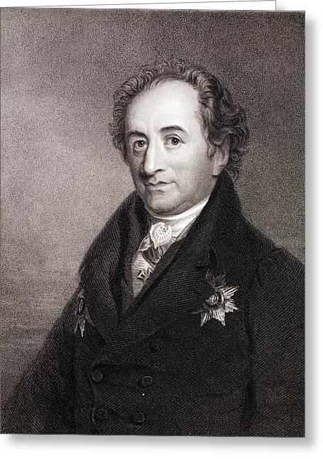 Johann Von Goethe Greeting Card by Paul D Stewart