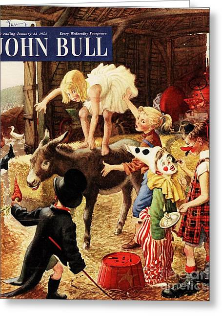 John Bull 1950s Uk Dressing Up Fancy Greeting Card by The Advertising Archives