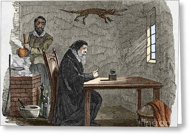 John Dee And Edward Kelly Greeting Card