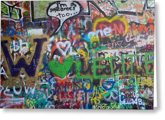 John Lennon Wall In Prague Greeting Card by Jaroslav Frank