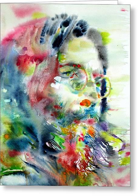 John Lennon - Watercolor Portrait Greeting Card