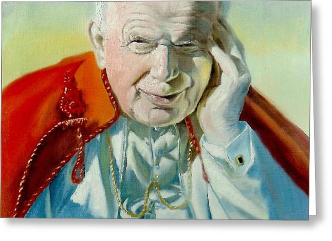Saint John Paul II Greeting Card by Henryk Gorecki