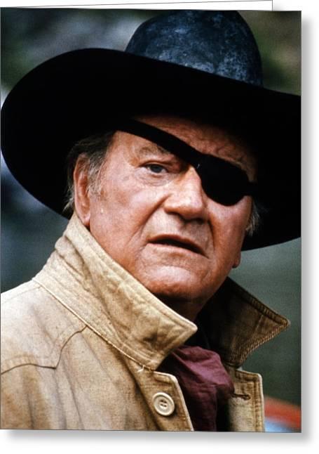 John Wayne In Rooster Cogburn  Greeting Card by Silver Screen
