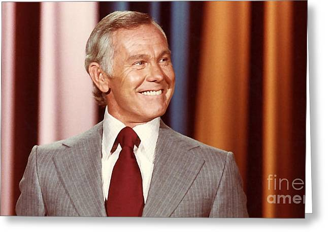Johnny Carson Greeting Card