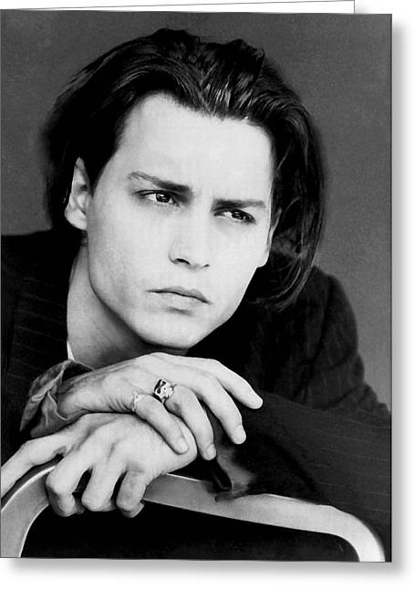 Greeting Card featuring the photograph Johnny Depp by Karon Melillo DeVega
