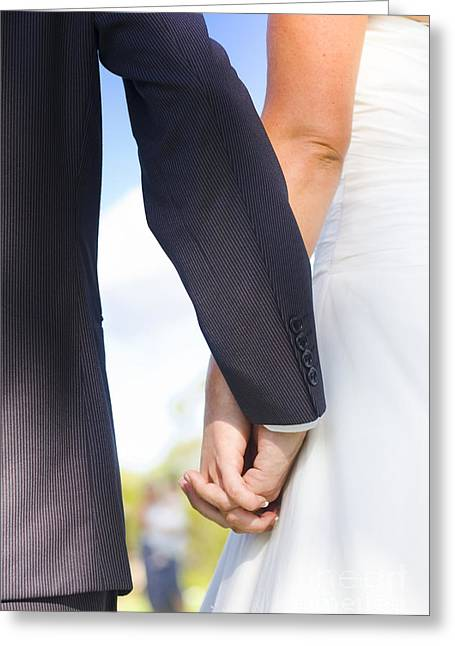 Joined Together As Man And Wife Greeting Card
