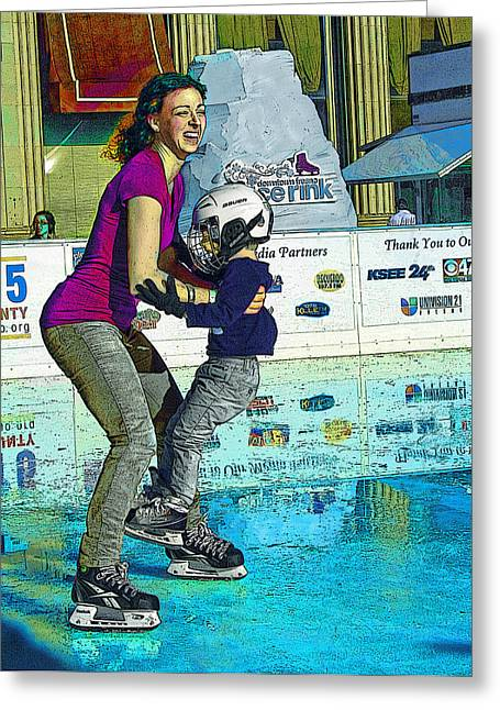 Joy On Ice Greeting Card