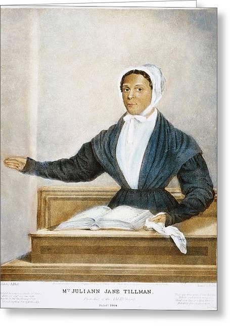 Juliann Jane Tillman, 1844 Greeting Card by Granger