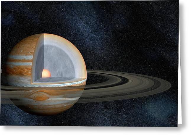 Jupiter's Interior Greeting Card
