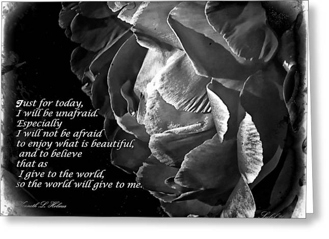 Just For Today Rose Greeting Card