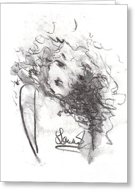Greeting Card featuring the drawing Just Me by Laurie Lundquist