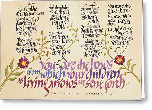 Kahlil Gibran - Children Greeting Card
