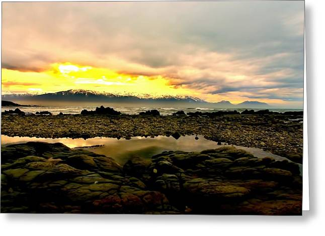Greeting Card featuring the photograph Kaikoura Coast New Zealand by Amanda Stadther