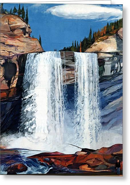 Kakwa Falls Mural Greeting Card