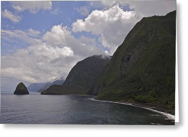 Kalawao Lookout Greeting Card by Brian Governale