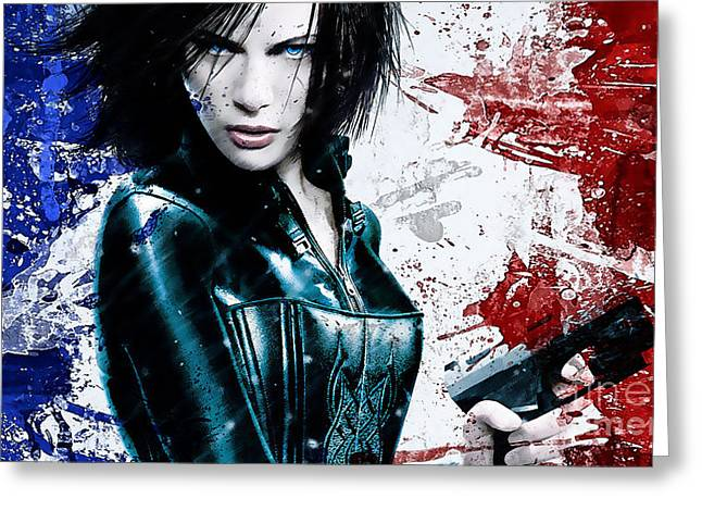 Kate Beckinsale Greeting Card by Marvin Blaine