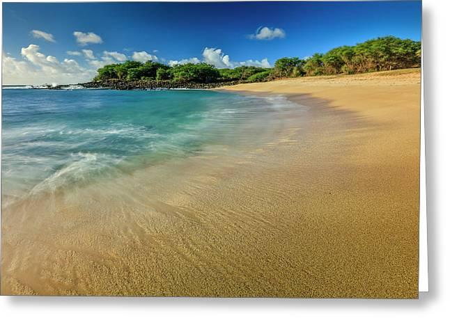 Kaupoa Bay Shoreline On Molokais West Greeting Card