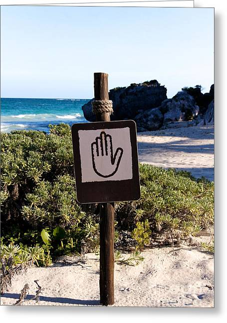 Keep Off The Beach Greeting Card by Jannis Werner