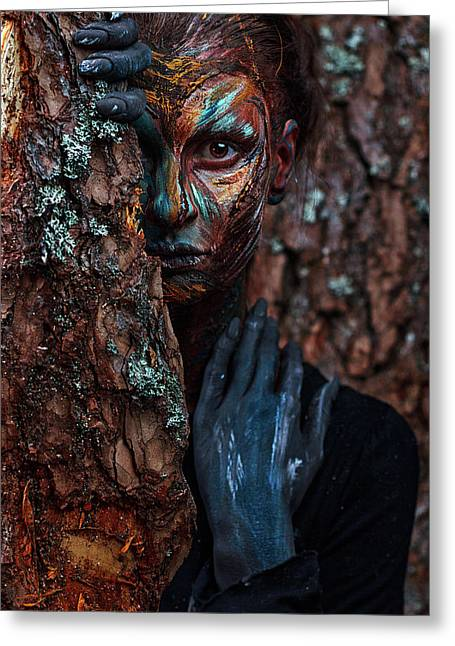 Keeper Of The Wood Greeting Card