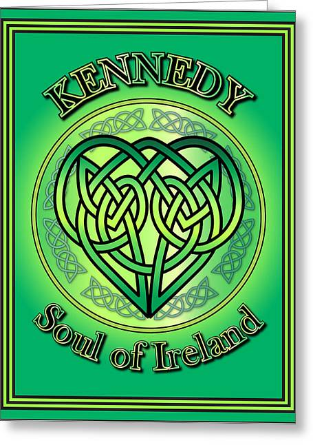Kennedy Soul Of Ireland Greeting Card by Ireland Calling