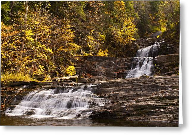 Kent Falls In Autumn Greeting Card by Stephanie McDowell