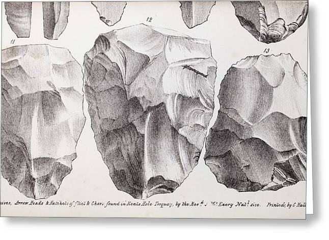 Kents Cavern Stone Tools Greeting Card