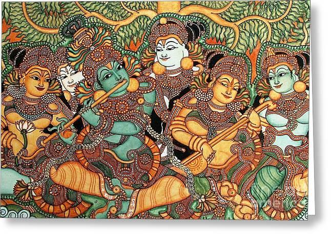 Kerala Mural Painting Greeting Card