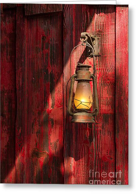 Kerosene Lantern Greeting Card by Carlos Caetano