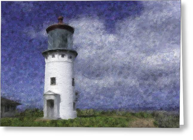 Kilauea Lighthouse Greeting Card by Renee Skiba