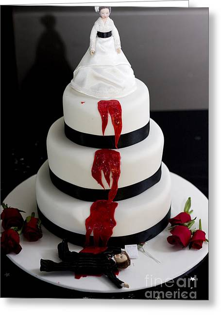 Killer Bride Wedding Cake Greeting Card by Jorgo Photography - Wall Art Gallery