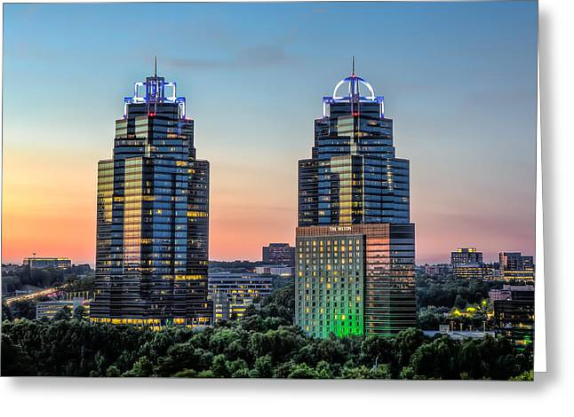 King And Queen Buildings Greeting Card