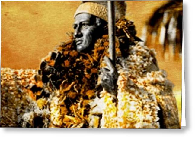 King Kamehameha I Greeting Card by Laura  Gundy