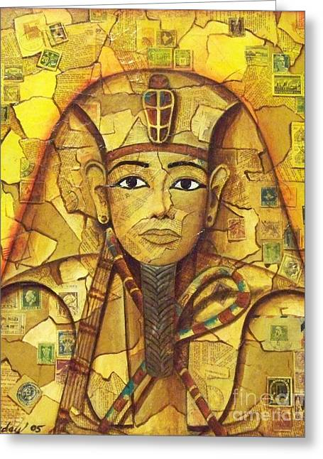 King Tut Greeting Card by Joseph Sonday