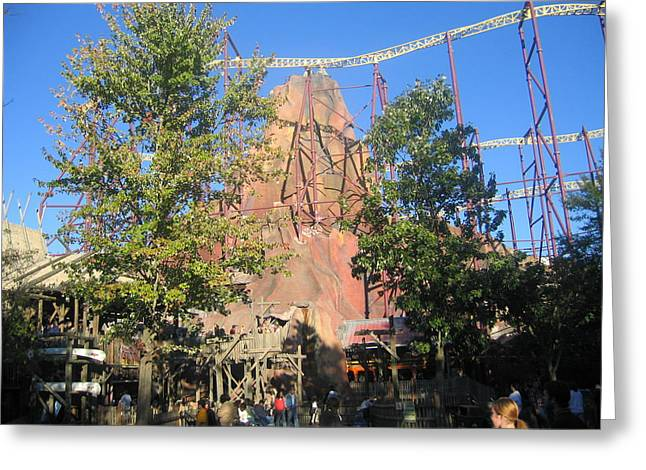 Kings Dominion - Volcano - 12121 Greeting Card