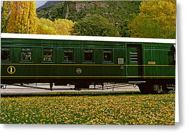 Kingston Flyer Vintage Steam Train Greeting Card by Panoramic Images