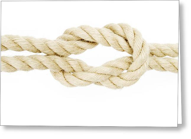Knot In A Rope Greeting Card
